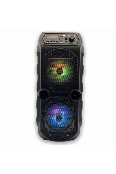 POLYGOLD Outdoor Parti Hoparlörü Bluetooth Hoparlör 4 Inç × 2 Kablosuz Speaker Ses Bombası Radyo-usb-tf Giriş