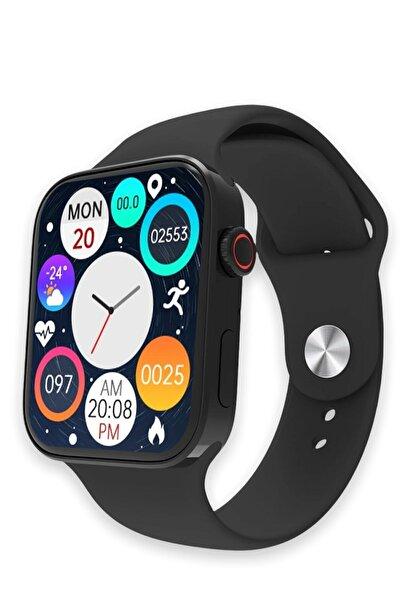 PlayTech Watch 7 Series Akıllı Saat Smart Watch 7 Pro Siyah Yeni Kasa Çift Tuş Aktif Konuşma Özellikli Türkçe