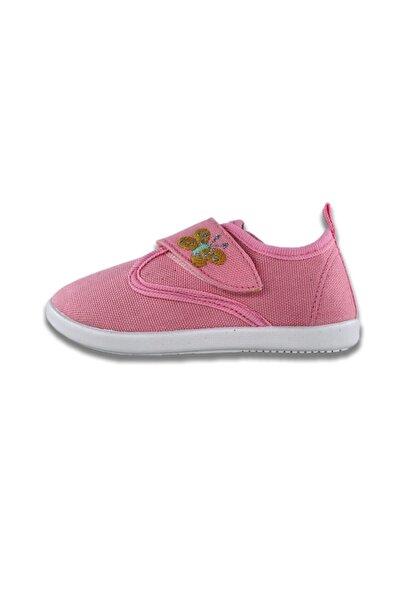 Pommy Kids Nakış Detaylı Kız Bebek Pembe Sneaker Ayakkabı