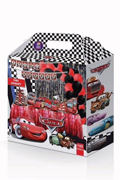 Parti Ustası Cars Arabalar Doğum Günü Parti Seti 100 Parça