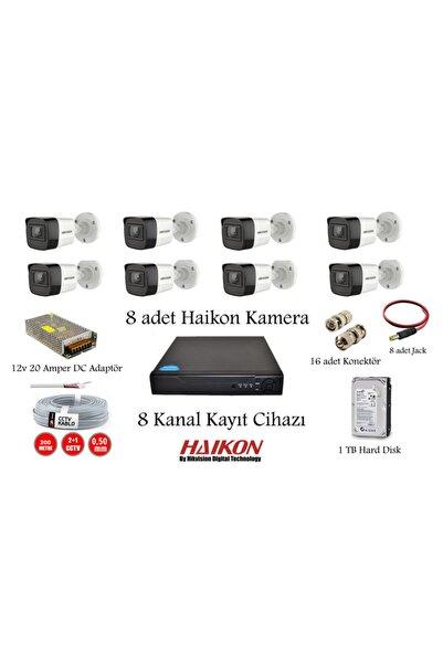 Haikon Kuruluma Hazır 8 Kanal Kayıt Cihazı + 8 Adet Kamera + Hard Disk Güvenlik Kamera Sistemi Combo Set 8