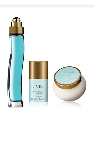 Oriflame Divine Edt 50 Ml Kadın Parfümü + Divine 250 Ml Krem + Divine Roll-on 50 Ml Deodorant