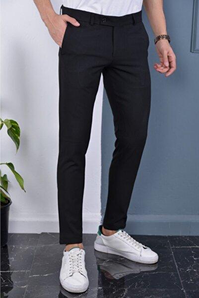 DSM MODA Siyah Dar Kesim Kumaş Pantolon