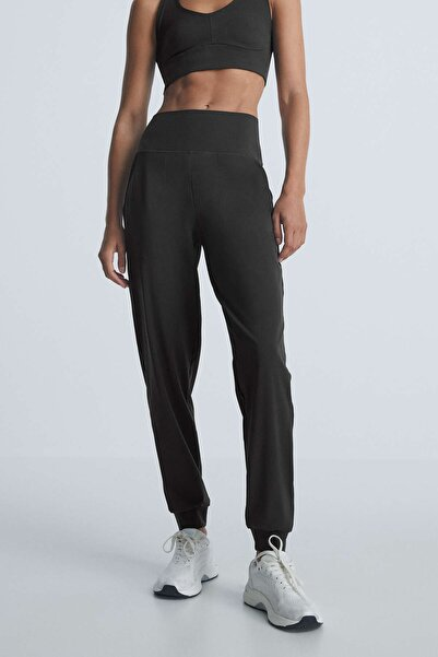 Oysho Siyah Compressive Jogger Pantolon 31799254