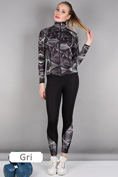 Alışveriş Sokağı Dalgıç Kumaş Kadın Spor Sweat Tayt Takım