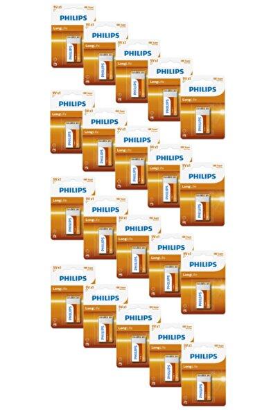 Philips 6f22l1b/05 9v Battery Long Life Zinc Chloride Pil (x20 Adet)