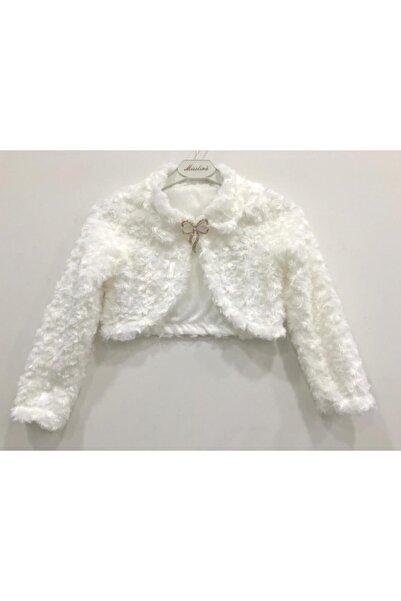Mislina Kız Çocuk Beyaz Bolero Ceket 2-14