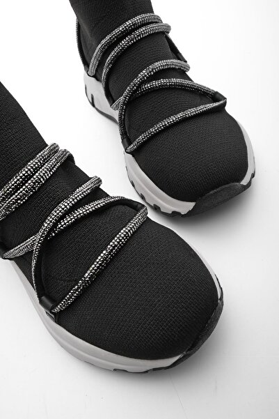 Marjin Kadın Kalın Taban Taşlı Çorap Spor Bot Konlez