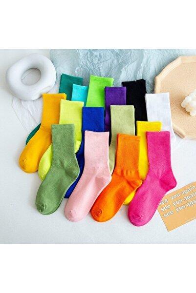 B&D SOCKS 10'lu  Paket Beyaz Patik Çorap