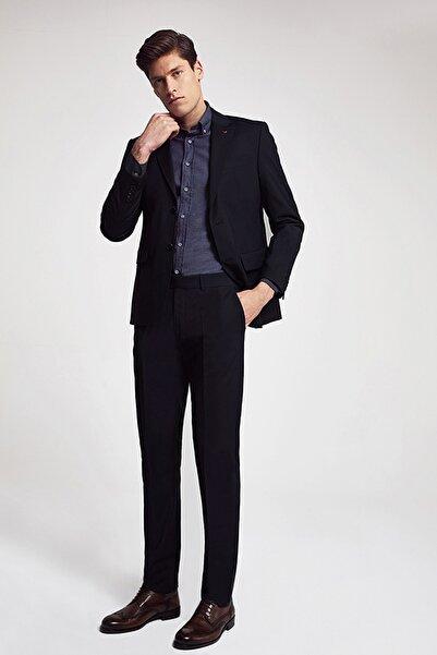 D'S Damat Siyah Renk Erkek Takım Elbise Slim Fit