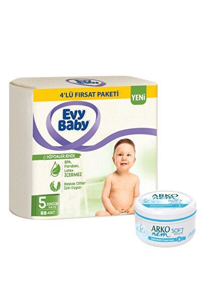 Evy Baby Bebek Bezi 5 Beden Junior 4'lü Fırsat Paketi 96 Adet Ve Gliserin Krem 300ml