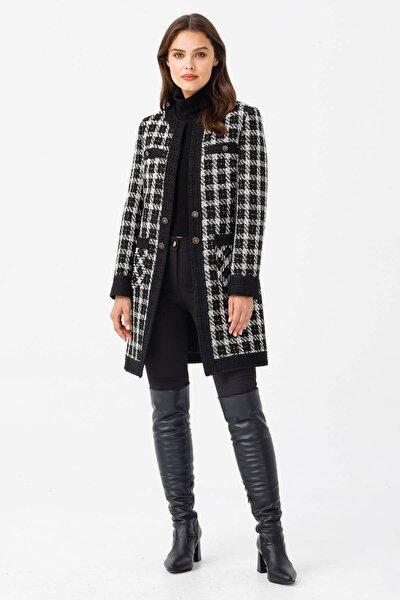 Moda İlgi Modailgi Uzun Buklet Ceket Siyah