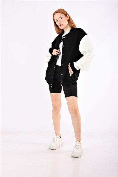 NOFILTER Siyah Basic Kolej Ceket
