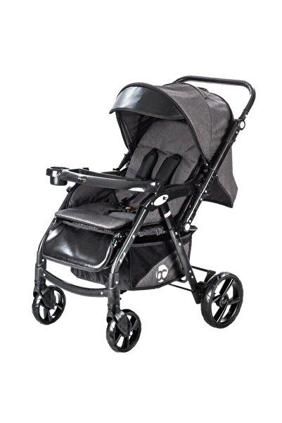 Baby Care Bc-55 Maxi Pro Alüminyum Çift Yönlü Bebek Arabası Siyah ( S )