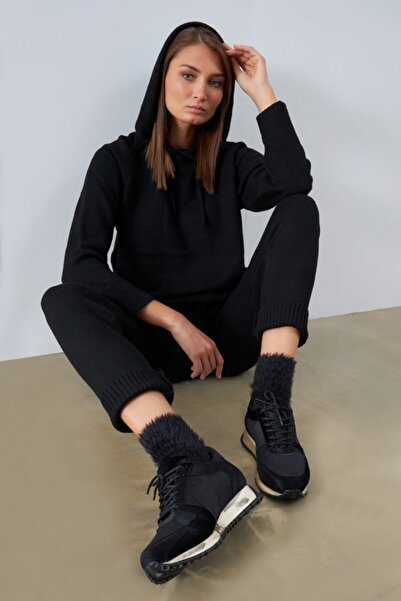 Gusto Kadife Sneaker- Siyah