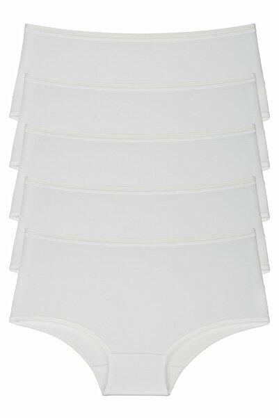 Nicoletta Beyaz Kadın Külot 5'li Paket