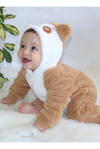 Bebesev Baby Bebesev Welsoft Unisex Yumuşak Peluş Fermuarlı Panda Bebek Uyku Tulumu