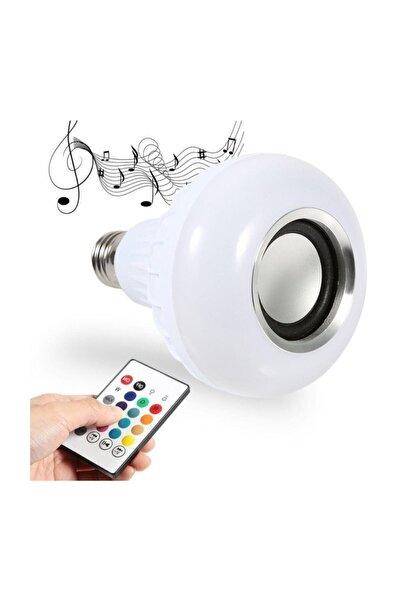 POLYGOLD Bluetooth Hoparlör Led Akıllı Ampul Lamba 12 Renk Kumandalı