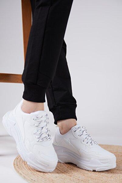 Tonny Black Kadın Spor Ayakkabı Beyaz Cilt Bls-q