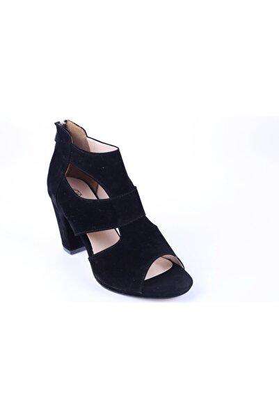 Daisy 534 Kadın 9 Cm Topuklu Süet Abiye Ayakkabı