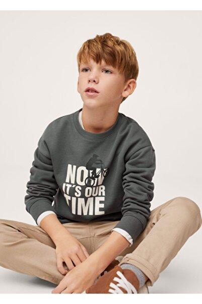 MANGO Kids Desenli Koton Sweatshirt