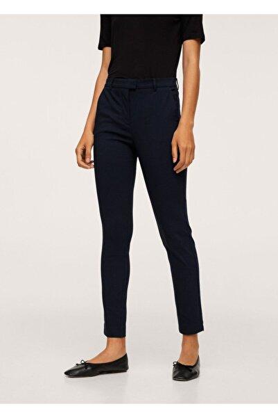MANGO Woman Kadın Lacivert Kısa Paçalı Skinny Pantolon