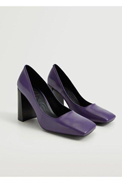 MANGO Woman Topuklu Deri Ayakkabı