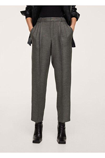 MANGO Woman Pili Detaylı Pantolon