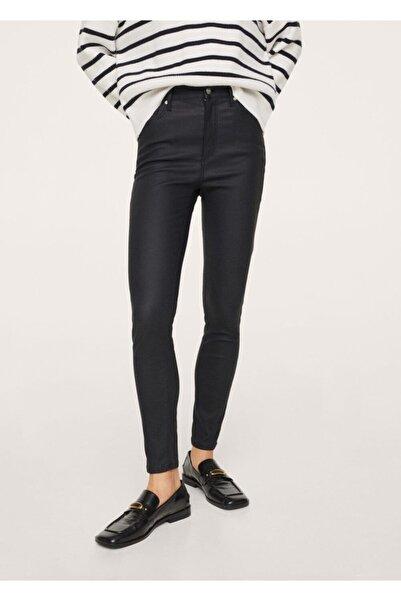 MANGO Woman Kadın Siyah Yüksek Bel Skinny Jean Pantolon