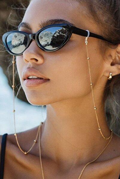 Tina Wear El Yapımı Minik Top Model Zincir Gözlük Askısı Ve Güneş Gözlüğü Aksesuarı - 96169