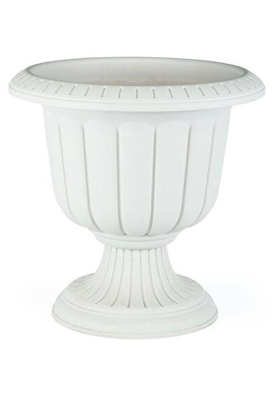 KıtayGroup Serinova Nergiz Saksı Dekoratif Kırık Beyaz Renk 9,8 Lt