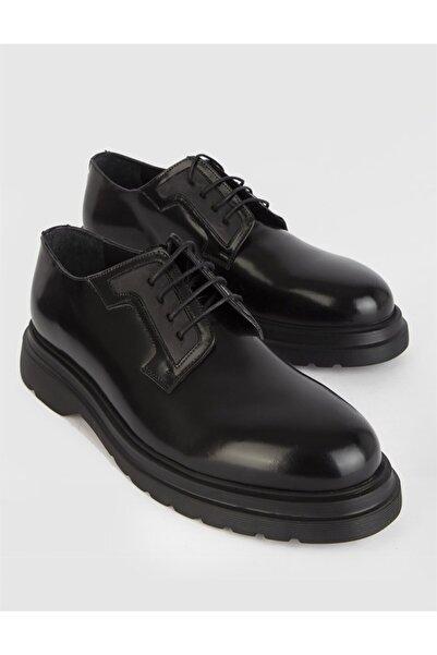 İLVİ Lova Hakiki Açma Deri Erkek Siyah Günlük Ayakkabı