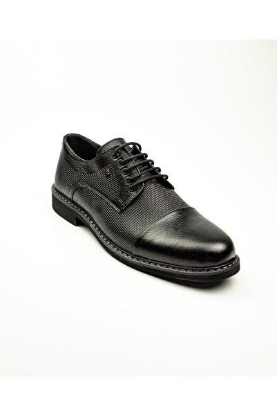 Nobel 999 Siyah Deri Klasik Erkek Ayakkabı Siyah-44