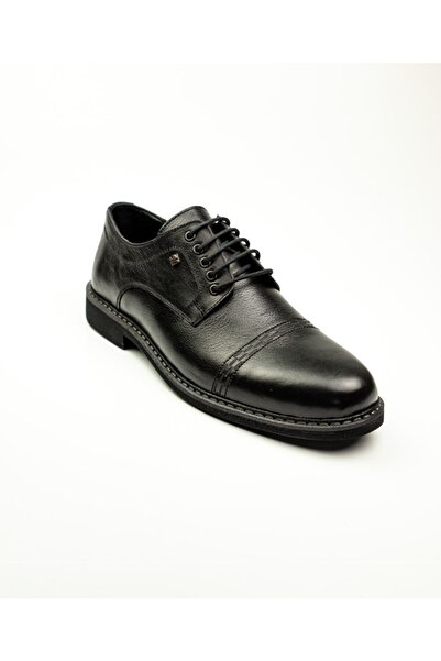 Nobel 959 Siyah Deri Klasik Erkek Ayakkabı Siyah-39
