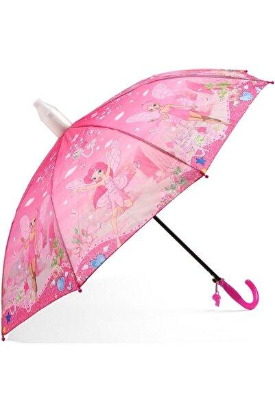 İstocToptan Kız Çocuk Pembe  Pvc Kılıflı Şemsiyesi, Otomatik Mekanizma