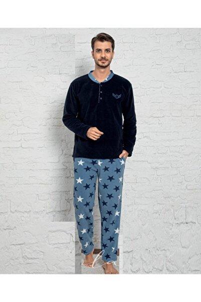 Sude Homewear Plr-p-05 Erkek Lacivert Polar Pijama Takımı