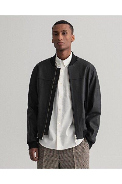 Gant Erkek Siyah Deri Ceket