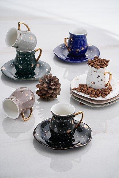 ACAR Berry 6lı Porselen Kahve Fincan Takımı