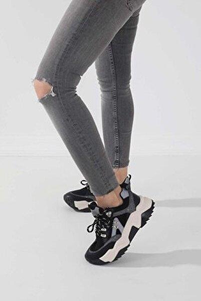 65136-2 Kadın Spor Ayakkabı Siyah Sim