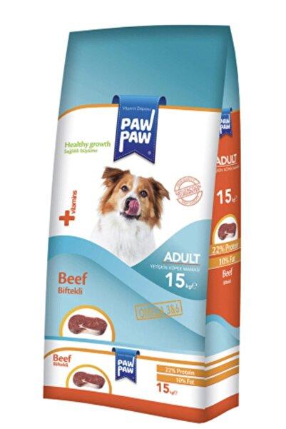 Paw Paw Yetişkin Köpek Maması 15 Kg Biftekli (skt:23)