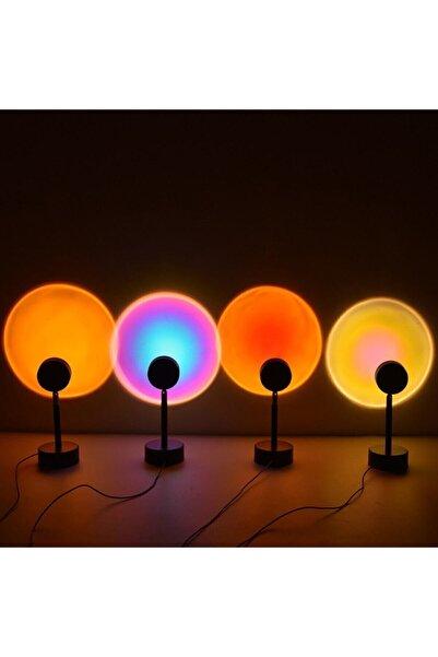 Voground Gün Batımı Projektör Lambası Dekoratif Işık Masa Lambası Romantik Fotoğraf Çekimi Usb Led Işık