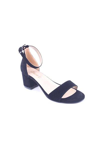Daisy 960 Kadın 5,5 cm Kalın Topuk Tek Bant Süet Sandalet