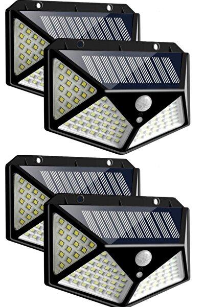 Mofy's 4 Adet 100 Led Solar Güneş Enerjili Hareket Sensörlü Bahçe Garaj Ev Aydınlatma Lambası