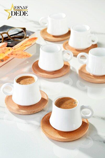 ESNAFDEDE Largi 6 Kişilik Kahve Takımı Bambu