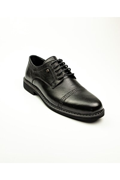 Nobel 959 Siyah Deri Klasik Erkek Ayakkabı Siyah-42