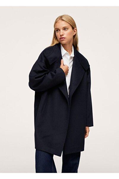 MANGO Woman Dik Yakalı Yün Palto