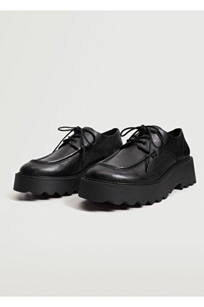 MANGO Woman Platform Tabanlı Deri Ayakkabı