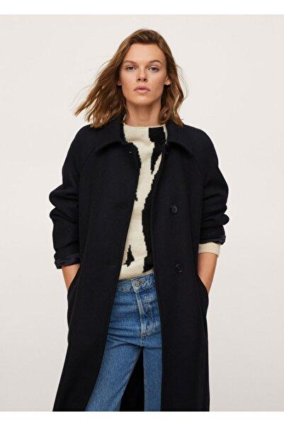 MANGO Woman Düğmeli Yün Palto