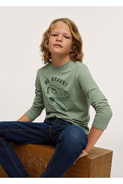 MANGO Kids Uzun Kollu Baskılı Tişört