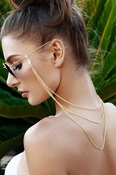 Marbling Tria 3 Sıra Gözlük Zinciri Gold Renk